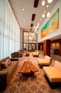 The lobby of Twenty50 in Fort Lee, NJ