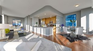 INTERIOR OF MODEL PENTHOUSE AT TRIO