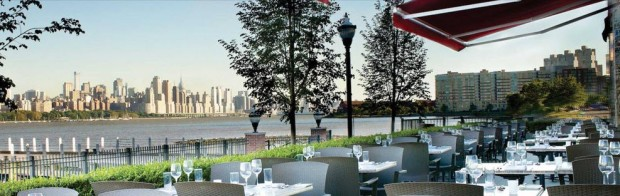 THE VIEW FROM HAVEN RESTAURANT IN EDGEWATER, NJ